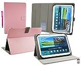 Emartbuy® Denver TIQ-11003 10.6 Zoll Tablet Universalbereich (10-11 Zoll) Baby Rosa Multi Angle Exekutiv Folio Mappen Kasten Abdeckung mit Kartensteckplätze + Eingabestift