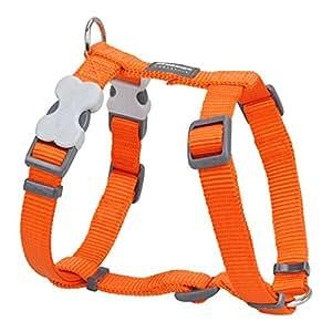 Red Dingo Plain Orange Dog Harness 12mm x (Neck: 25-39cm / Body 30-44cm)
