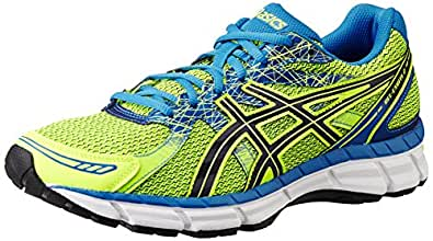 ASICS Men's Gel-Excite 2 Flash Yellow, Black and Directoire Blue Mesh Running Shoes - 13 UK