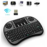 Mini teclado inalámbrico, 2.4G Mini Wireless Touchpad Ratón Combo. Smart TV, PC, Android TV Box, etc.