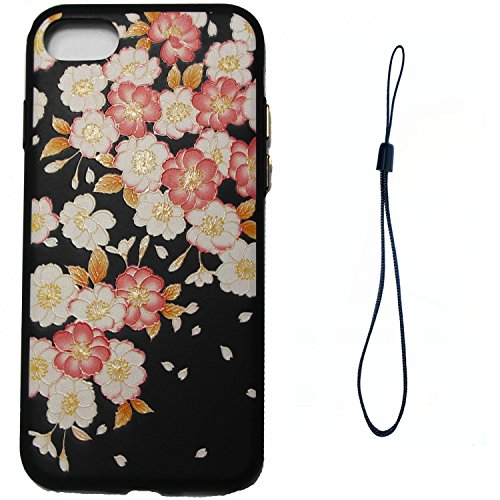 Cover iPhone 8 Plus,Cover iPhone 7 Plus,Custodia iPhone 8 Plus / iPhone 7 Plus Cover,ikasus® Cover custodia iPhone 8 Plus / iPhone 7 Plus disegno colorato TPU con 3d arte pittura floreale fiore fiori  Fiore #8