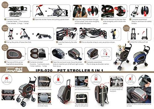 Pet Stroller,IPS-020/Blue, dog carrier, trolley, Trailer, Innopet, 5-in-1 Pet Buggy.Foldable pet buggy, pushchair, pram… 6