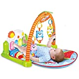 Baby Play Mat Piano Gym - Infant Activity Center, Kick und Play Neugeborenes Spielzeug für Baby 1 - 36 Monate, Lay and Play, Sitzen und Spielen, Tummy Time, Aktivität Spielzeug, Spiegel, Klavier Bett Spielzeug