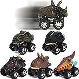 Coches Dinosaurios-6 Pcs Tire hacia Atrás de los Juguetes de Dinosaurios Regalos Creativos para Niños de 2-14 Años Niñas