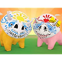 【Halloween】Dia de los muertos - Learn colours with Face paint! / Learn animals sounds / Learns about Music  / Learn alphabet