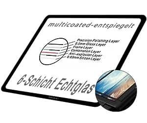 GGS LARMOR LCD Displayschutz Glas für Canon EOS 6D (die vierte G) - LCD-Echtglas-Protektor für Canon EOS 6D- 6-Schicht-Prinzip plus Schutzrahmen