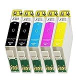 5 Druckerpatronen Tinte für Epson Stylus Office BX305F BX320FW BX305FW SX420W ersetzen T1295