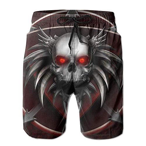 Beach Yoga Pants, Halloween Scary Skull Beach Pants Shorts for Men Boys, Outdoor Short Pants Beach Accessories,Size:XXL