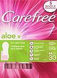 Carefree Proteggi-Slip Respiranti con Aloe Vera Natural - Confezione da 30 Pezzi