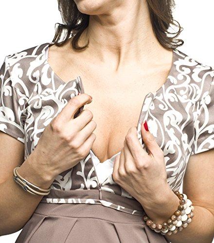 2in1 Elegantes und bequemes Umstandskleid/Stillkleid, Modell: Ronja, beige - 5