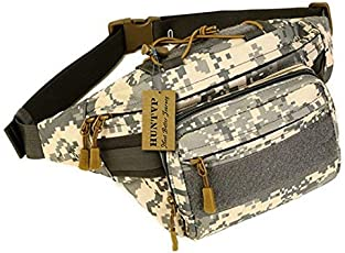 UNIGEAR Military Fanny Pack Tactical Waist Bag Pack Water-Resistant Hip Belt Bag Pouch for Hiking Climbing Outdoor Bumbag (ACU)
