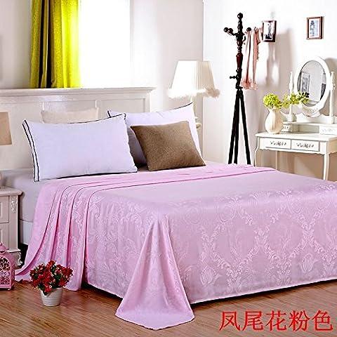 Bed Blankets Bamboo Fiber Blanket Single Double Sheets Air-Conditioning Summer Blankets Children'S Nap Blanket,100×120,Phoenix Flower Pink