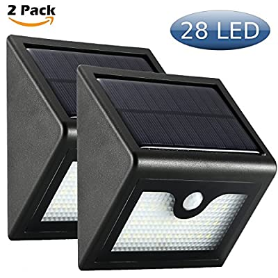 4 Pack Bright 28 LED Solar Wall Lights Outdoor Security Motion Sensor 3 Modes 2200mAh Battery ¡ - inexpensive UK light store.