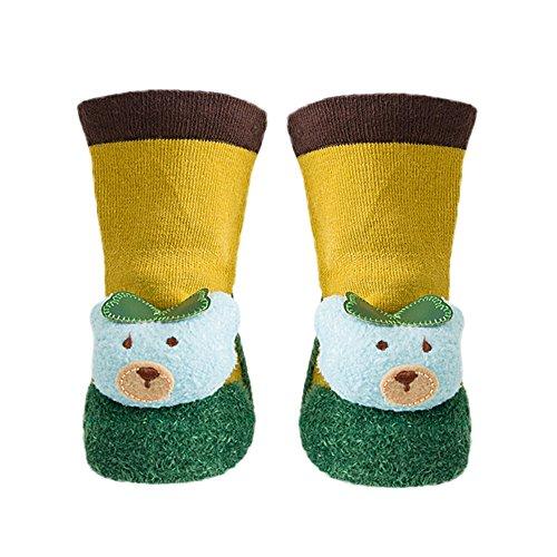 ❤️Amlaiworld Chaussettes Bébé Naissance Chaussettes antidérapantes Pantoufle Chaussures Bottes Chaussons pour Enfants Bébé Filles Garçons 0-2Ans