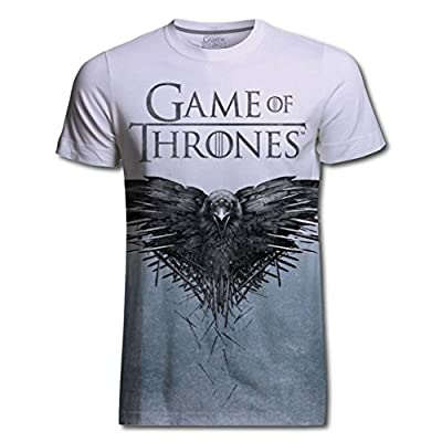 Official T Shirt GAME OF THRONES ~ Crow Sublimation White All Sizes