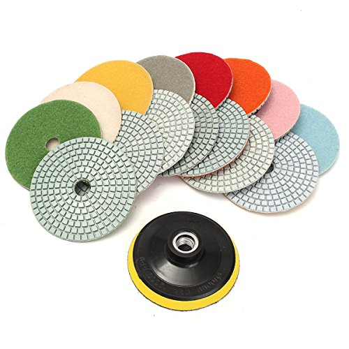 king-do-way-kit-de-16-pcs-10cm-diamant-polissage-pads-pour-granit-beton-marbre-diamond-polishing-pad