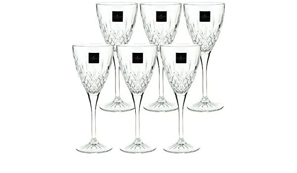 Royal Doulton Crystal Earlswood 6 Wine Glasses (Boxed