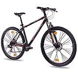 73,66 cm de montaña bicicleta de limpieza CHRISSON 2,0 con 21 G SHIMANO de disco 2 x negro mate