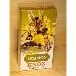 KNOX Räucherkegel Räucherkerzen Lemon, 24 Stück in Packung