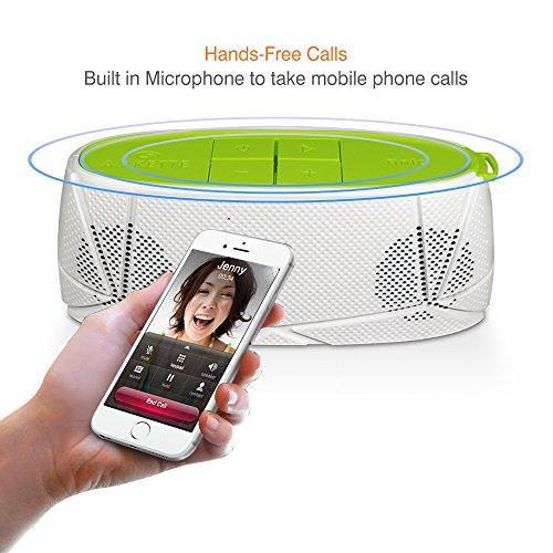 Amkette Trubeats Sonix 835WH Hi-Fidelity Bluetooth Portable Speaker (White/Green)