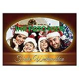 Weihnachtskarte Klappkarte DIN A6 personalisiert mit Ihrem Foto mit Umschlag im Set selbst gestalten