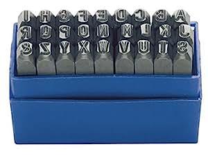Lettres à frapper 27pcs écriture H.2mm majuscules A-Z TURNUS