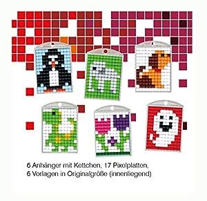 Pracht Creatives Hobby P90012-63501 - Juego de Manualidades para Manualidades (5 para 6 medallones, Llavero, para niños, niños y niñas, Ideal como pequeño Regalo, para cumpleaños Infantiles)