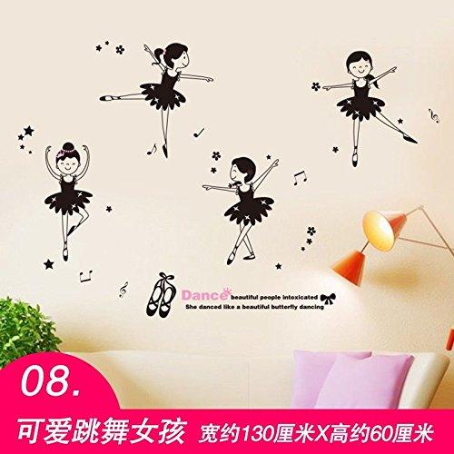 Bomeautify creatività adesivi murali adesivi di carta decorazione della parete dell'aula di danza di musica camera da letto stanza parete carta da parati della ragazza cuore autoadesivo