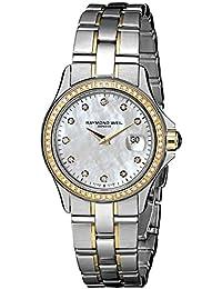 Raymond Weil Parsifal 9460-SGS-97081 28 Diamonds Steel Bracelet & Case anti-reflective sapphire Women's Watch