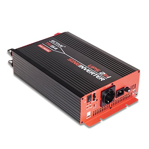 Preisvergleich Produktbild ECTIVE TSI-Serie / Sinus Wechselrichter 1500W mit NVS / 48V zu 230 V / 6 Varianten: 500W - 3000W / Reiner 48 V DC auf AC Spannungswandler mit Netzvorrangschaltung / echter Stromwandler Inverter USV