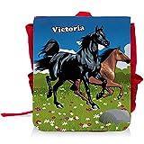 Kinder-Rucksack mit Namen Victoria und schönem Pferde-Motiv für Mädchen