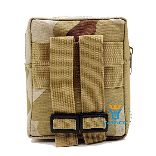 Multifunktions Survival Gear Tactical Beutel MOLLE Tasche Täglich tragen Tactical Waist Pack, Outdoor Camping Tragbare Travel Bags Handtaschen Tool Taschen Taille Tasche Handytasche DCU