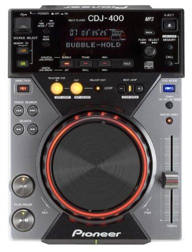Pioneer CDJ-400 Digitales CD-Deck mit MP3 und USB Audio / USB-Steuerung, schwarz (Dj Player Pioneer)