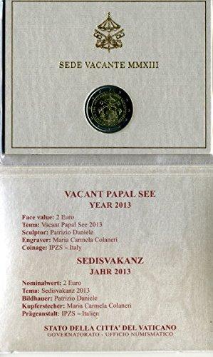 2 Euro Vatikan 2013 - Sedies Vakanz (Papstwahl) - im Folder