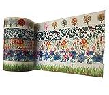 Japanpapier mit buntem botanischen Druckmuster,je 10m lang,ideal zum Basteln, Scrapbooking, Karten herstellen usw.