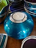 India Enamel & Aluminium Bowl Tea Light Holder Turquoise