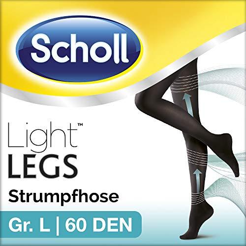 Scholl Light Legs Strumpfhose - Damen-Strumpfhose mit Kompressionsfunktion in L - Blickdichte, schwarze Stützstrumpfhose - 1 Paar mit 60 DEN