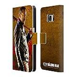 Offizielle AMC The Walking Dead Lucille 1 Negan Brieftasche Handyhülle aus Leder für Samsung Galaxy S7