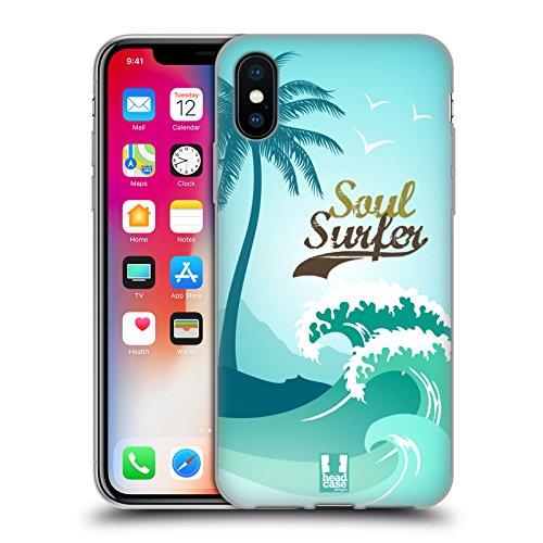 Head Case Designs Surf En Bois Sports Extrêmes - Collection 2 Étui Coque en Gel molle pour Apple iPhone 6 / 6s Âme De Surfer