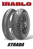 Paar Reifen Reifen PIRELLI DIABLO STRADA für Kawasaki Z750Größe vorne