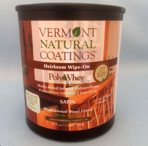 Vermont Natural Coatings PolyWhey Heirloom Wipe-on Satin 32 oz by Vermont Natural Coatings - 32 Oz Satin