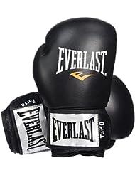 Everlast Fighter - Guantes para boxeo, color negro/rojo, talla 16oz