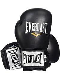 Everlast Fighter - Guantes para boxeo, color negro/rojo, talla 12oz