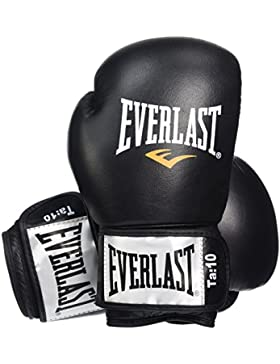 Everlast Fighter - Guantes para boxeo, color negro/rojo, talla 16oz
