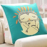 Unbekannt Verstellbares Kissen Sofa Kissen/Dreieck Bedside Big Kissen/Büro Lendenwirbel Rückenlehne/Bett Hals Kissen/(Größe : A-45*20*45cm)