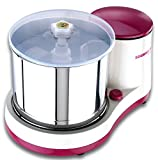 Sowbaghya Diva Wet Grinder (with Attachments) (White with Pink)
