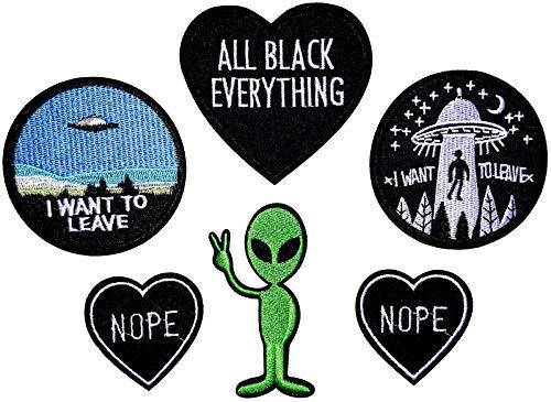 i-Patch - Patches - 0142 - Sticker - Badge - Astronaut - Stickerei - Applikation - Aufnäher - Planet - Raumschiff - Raumfahrt - Aufbügler - Flicken - zum aufbügeln - Space - Alien - Rakete - Astro