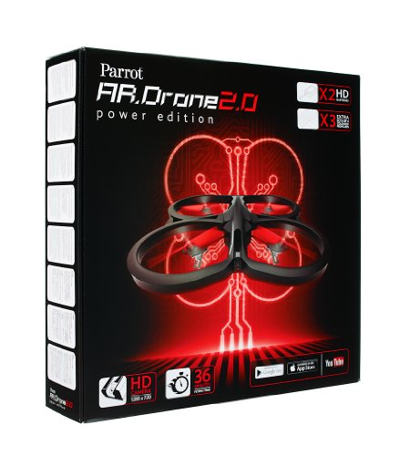 Parrot AR.Drone 2.0 Power Edition Quadrocopter (geeignet für Android-/Apple-Smartphones und -Tablets) rot - 16