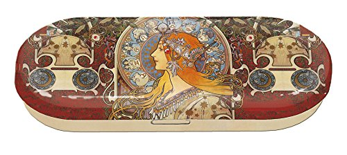Fridolin Brillenetui Art Nouveau - Zodiak aus Metall, Mehrfarbig, 16x6.6x2.8 cm