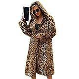 Pelz Mäntel Warme Damen Mäntel WinterDamen Kunstpelzmantel Jacke Winter Leopard mit Kapuze Parka Oberbekleidung